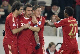 Mario Mandzukic anotó el primer gol de los bávaros en el triunfo sobre e...