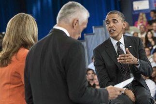 El Presidente de Estados Unidos, Barack Obama, durante el Encuentro con...
