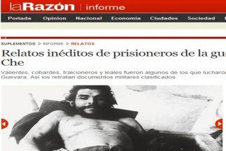 Imagen del diario La Razón, en su página web.