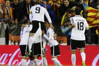 Valencia venció en el descuento al Celta.