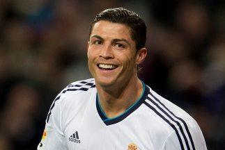 Cristiano Ronaldo en la celebración de sus tres goles contra Sevilla.