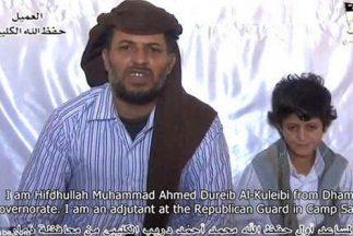 El pequeño Barq al-Kulyabi y su padre // Foto tomada de video difundido...