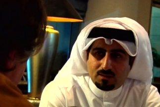 Omar bin Laden, durante la entrevista en Doja, Qatar, con 'Aquí y Ahora'.