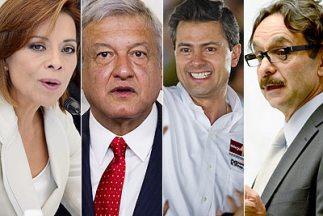 Los candidatos a suceder a Felipe Calderón de izquierda a derecha: Josef...