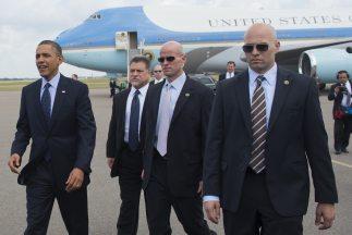 Los agentes del Servicio Secreto estaban a cargode la seguridad del pre...
