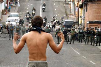 Las protestas en Táchira contra el gobierno de Nicolás Maduro están fuer...