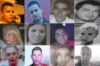 Imágenes de los doce jóvenes que desaparecieron en el Bar Heaven. Fotos...
