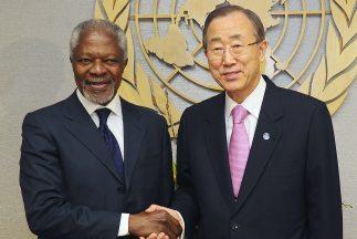 Kofi Annan, enviado especial de la ONU y de la Liga Árabe para Siria, se...