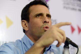 El líder de la oposición venezolana,Henrique Capriles.