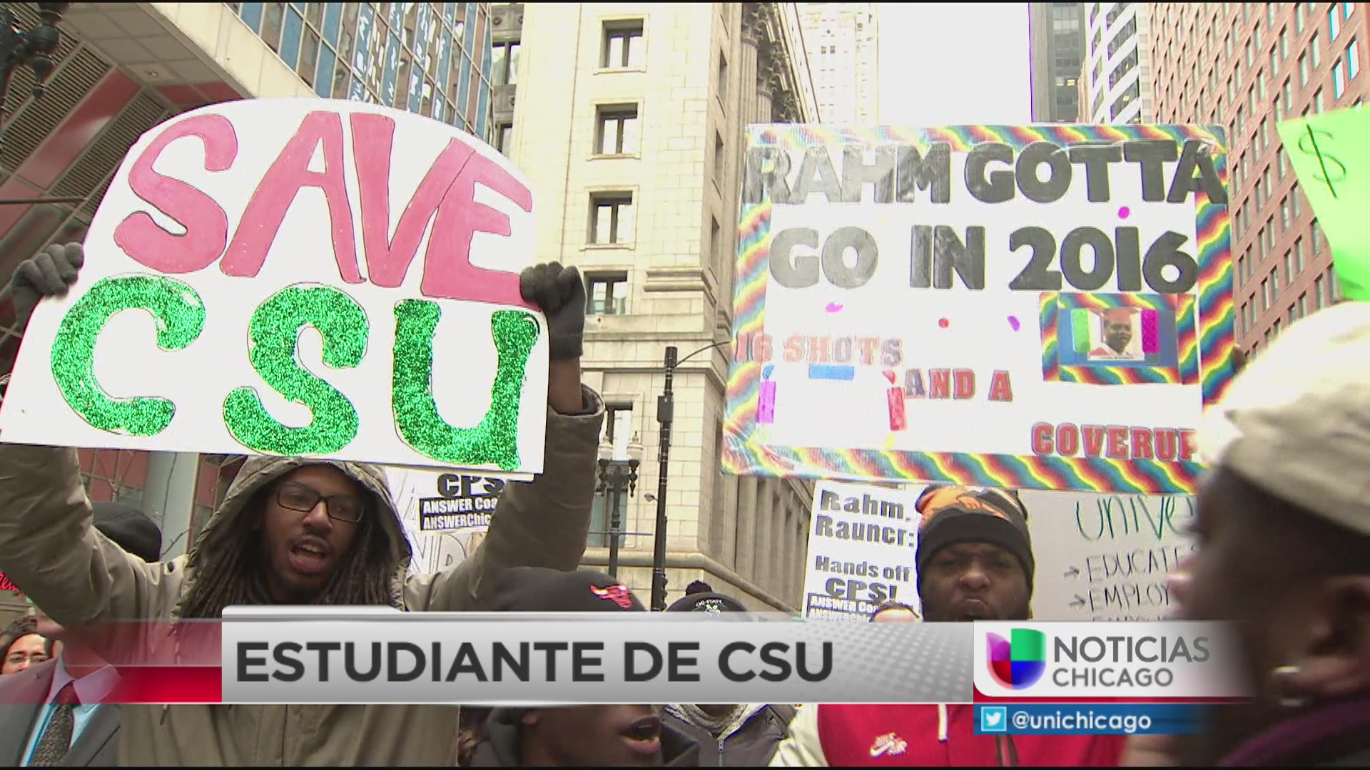 Estudiantes de CSU realizan protesta pidiendo fondos