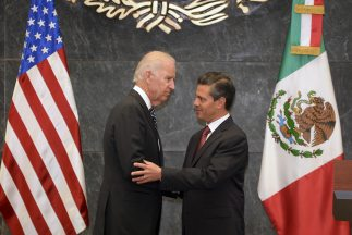 Joe Biden y el presidente Enrique Peña Nieto dieron un mensaje conjunto.