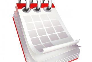 El calendario de los horóscopos.