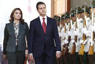 Angélica Rivera, primera dama de México, y Enrique Peña Nieto, presidente.