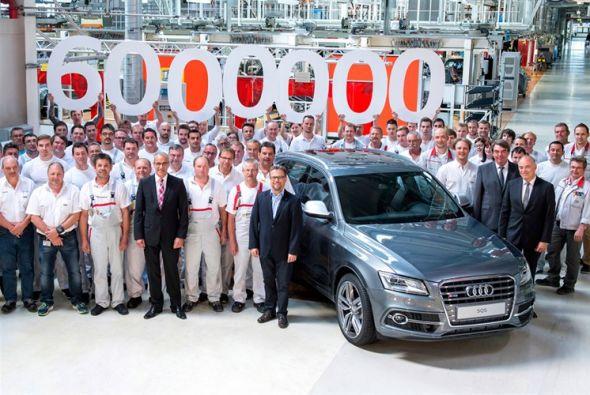 El Audi con tracción quattro número 6 millones salió de la línea de prod...