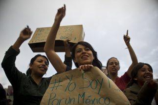Intregantes del movimiento estudiantil #YoSoy132.