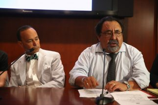 Los congresistas demócratas Luis Gutiérrez y Raúl Grijalba.
