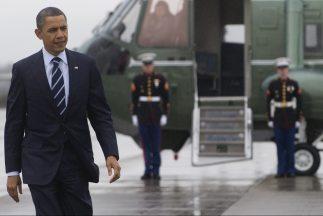 El presidente de Estados Unidos Barack Obama y la primera dama Michelle...