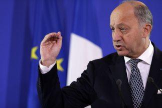 El Ministro de Relaciones Exteriores de Francia,Laurent Fabius.