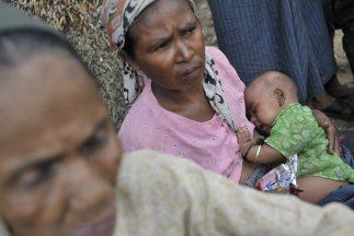 Más de 20 mil desplazados en Birmania.