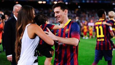 El primer hijo de Messi se llama Thiago.
