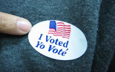 Calcomanía de votación.