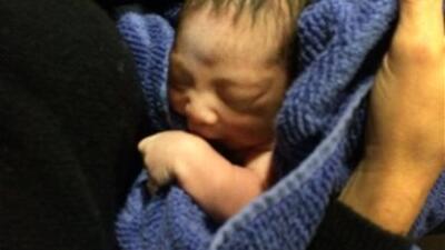 Fotografía del bebé abandonado en NY.