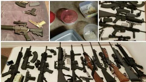 Hallan grandes cantidades de armas y anfetaminas durante un operativo pa...
