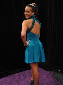 Y vaya que el modelito le va muy bien a Melissa pues el color y el corte...