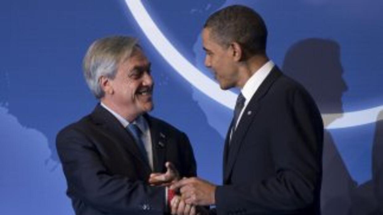 Sebastián Piñera y Barack Obama, presidentes de Chile y Estados Unidos s...