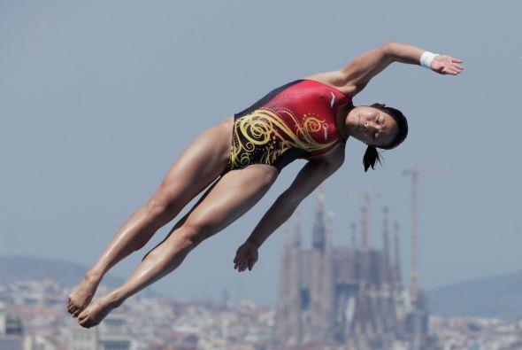 Tercera fue la china Wang Hang, subcampeona mundial de la especialidad,...