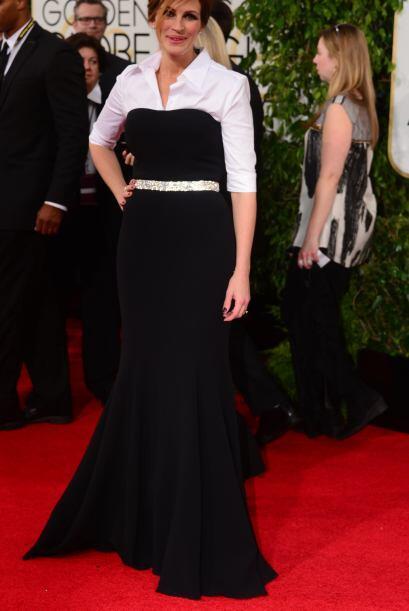 Sin duda alguna, una de las más elegantes de la noche fue Julia R...