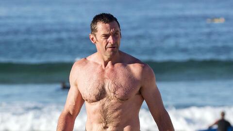 Hugh Jackman disfruta de las playas australianas.