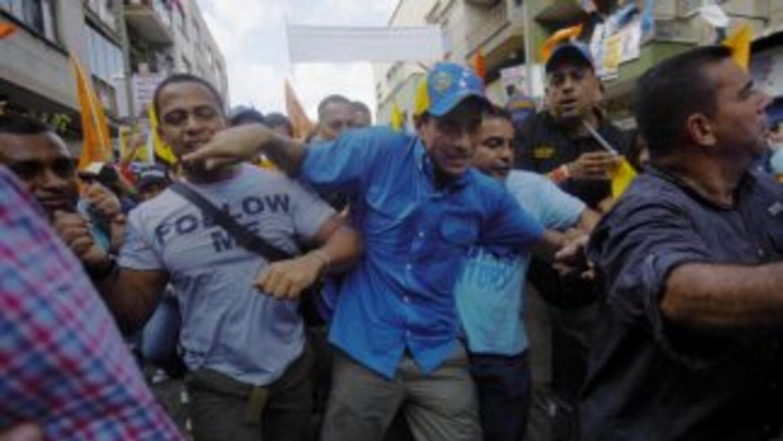 HenriqueCapriles, candidato opositor a la presidencia de Venezuela.