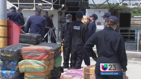 Autoridades de Miami confiscan 8 toneladas de cocaína