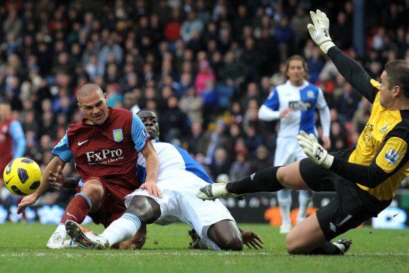 Ya no hubo más goles y Blackburn se impuso por 2-0 sobre Aston Vi...