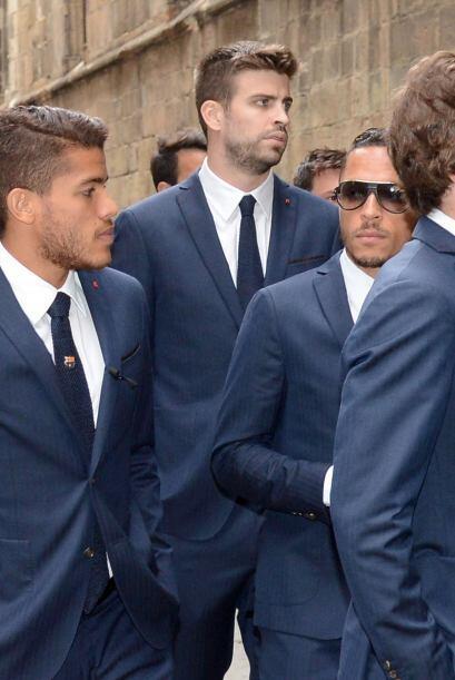 Jugadores del primer y segundo equipo del Barcelona asistieron a una mis...