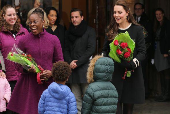 Muchos pequeños llamaron la atención de la princesa.