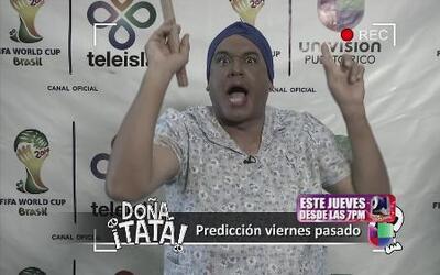 Doña Tatá fue la única que pegó el ganador del Mundial