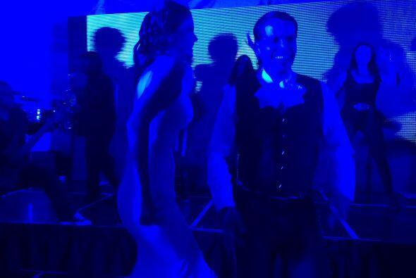 Y si los ven azules no es porque la fiesta se puso nostálgica, si...