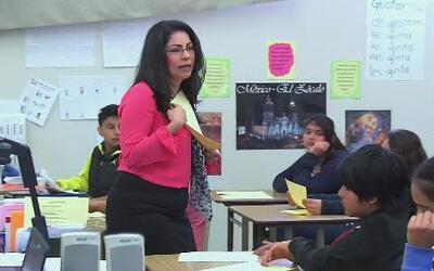 A pesar de tener pocos recursos al alcance, esta maestra ha logrado gran...