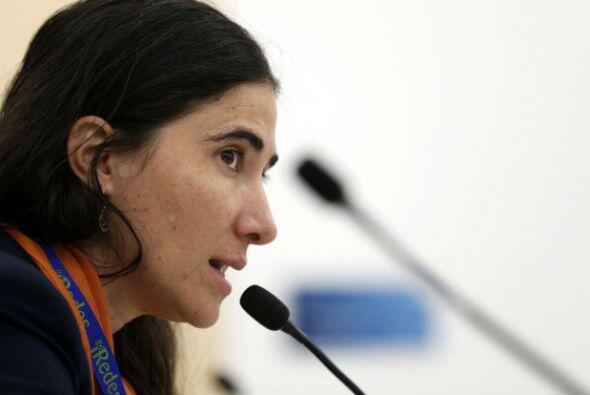 En su primera gira por varios países, la bloguera cubana Yoani Sánchez l...