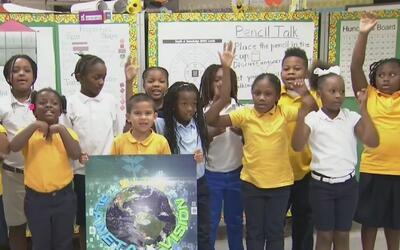 Un grupo de alumnos de la primaria Lorah Park tienen ideas para combatir...