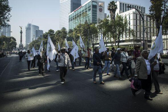 La movilización, que inició en el Ángel de la Independencia recorrió un...