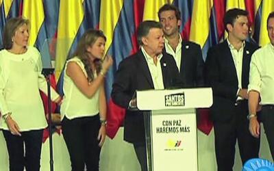 Juan Manuel Santos es reelecto presidente de Colombia