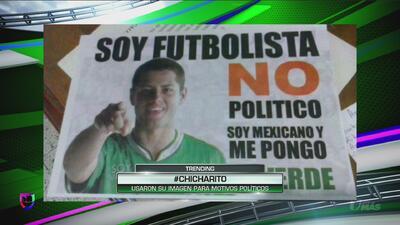 Javier 'Chicharito' Hernández molestó por el uso de su imagen