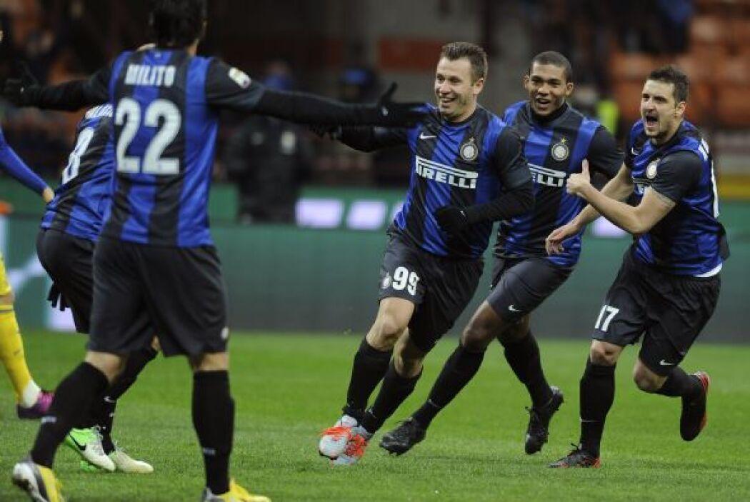 Cassano abrió el marcador y los 'nerazzurri' acabaron por imponerse al s...