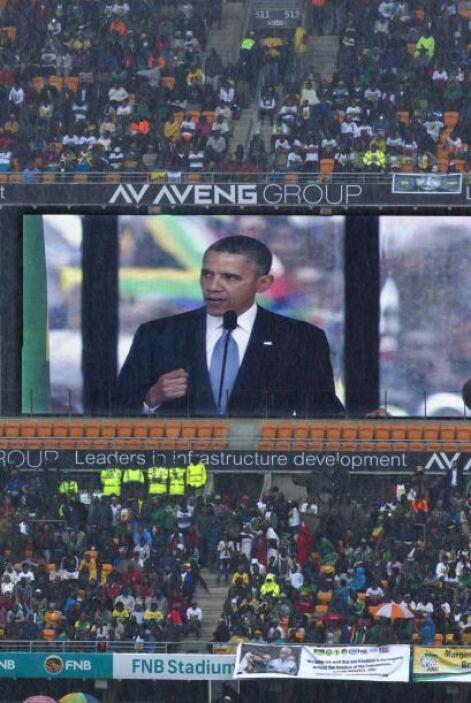 Durante su discurso, Barack Obama dijo que Mandela era el último liberta...