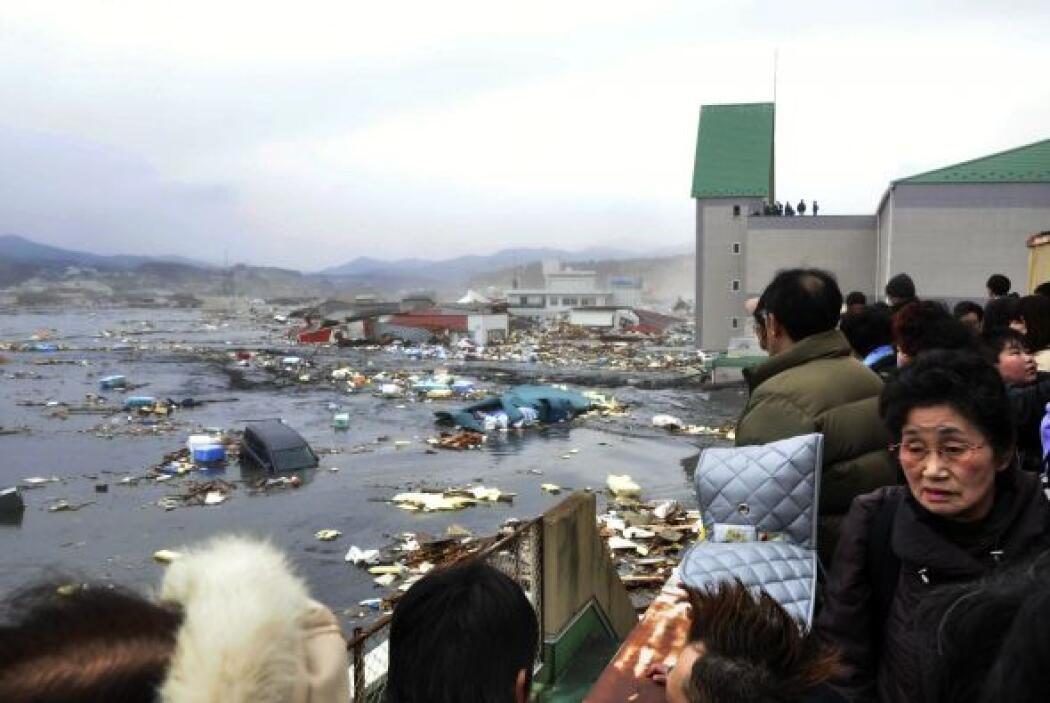 El terremoto registrado fue de magnitud de 8.9. Tras el sismo que se reg...