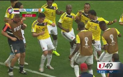 Colombia baila y Uruguay llora
