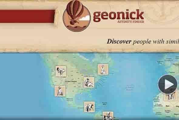 La red social española Geonick, un buscador de afinidades basado en la g...